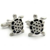 Novelty Turtle Cufflinks by Onyx Art in Gift Box CK24